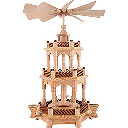 3-stöckige Pyramide unbestückt - 42 cm