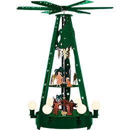 3-stöckige Außenpyramide grün - 160 cm