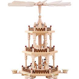 3-stöckige Pyramide Krippenszene - 41 cm