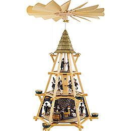 3-stöckige Pyramide mit Göpel, Mettenschicht - 70 cm