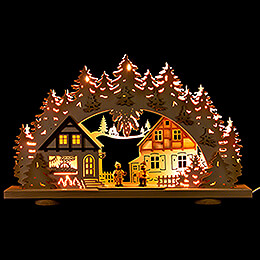 3D Candle Arch - Children in the Village - 52x31,5 cm / 20.5x12.4 inch