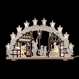 3D Candle Arch - Lantern Man - 66x43x6cm - 26x17x2,4 inch