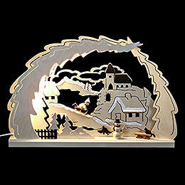 3D Candle Arch - Sleigh Ride - 41x27x4,5 cm / 16x11x1.7 inch