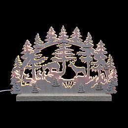 3D-Doppelschwibbogen Tiere im Wald - 42x30x4,5 cm