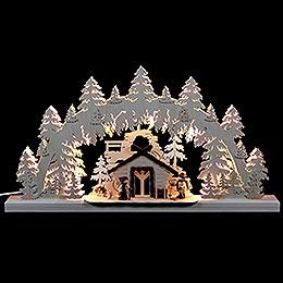 3D-Doppelschwibbogen Wanderhütte - 62x33x5,5 cm