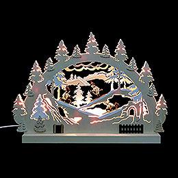 3D-Doppelschwibbogen Winterlandschaft - 42x30x4,5 cm