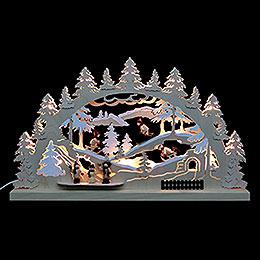 3D-Doppelschwibbogen Winterlandschaft - 62x37x5,5 cm