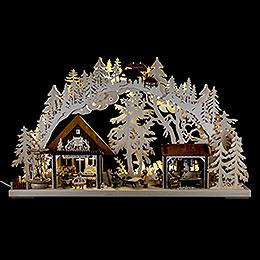 3D - Double Arch - Artisans House - 72x43 cm / 28x17 inch