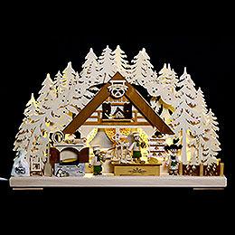 3D Double Arch - Christmas Bakery - 44x29x7 cm / 17x11x3 inch