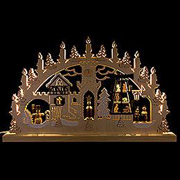 3D Double Arch - Pyramid Singers - 62x37x5,5 cm / 24x14x2 inch