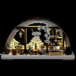 3D Double Arch - Wine Cellar - 43x30x7 cm / 17x12x3 inch