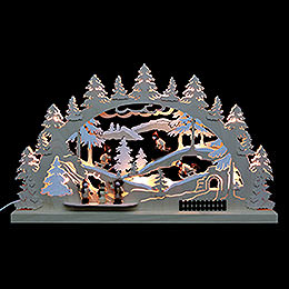 3D Double Arch - Winter Countryside - 62x37x5,5 cm / 24x14x2 inch
