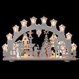 3D Light Arch - City in Winter - 66x40x6 cm / 2.4 inch