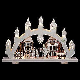 3D-Schwibbogen Altstadt - 47x31x6 cm