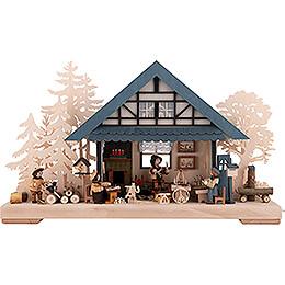3D-Schwibbogen Kunsthandwerkerstübchen - 43x30 cm