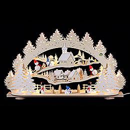 3D-Schwibbogen Schneemann - 66x40x11,5 cm