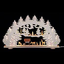 3D-Schwibbogen Waldlichtung - 66x40x8,5 cm