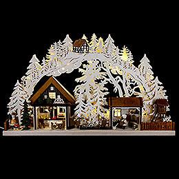 3D-Schwibbogen Walki-Weihnachtsbäckerei - 72x43 cm