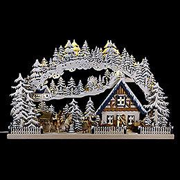 3D-Schwibbogen Wintereinbruch - 72x43 cm