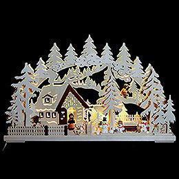 3D-Schwibbogen Winterlandschaft - 62x39x8 cm