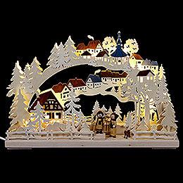 3D-Schwibbogen Winterwanderung - 43x30 cm