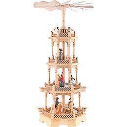 4-Tier Pyramid - Nativity Figurines - Colored - 66 cm / 26 inch