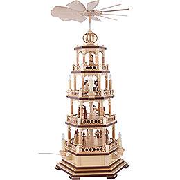 4-Tier Pyramid - The Christmas Story - 70 cm / 28 inch - 120 V Electr. Motor (US-Standard)
