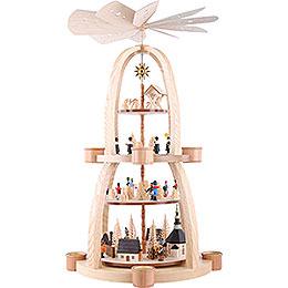 4-stöckige Pyramide Seiffener Weihnacht - 69 cm