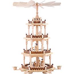 4-stöckige Pyramide Krippenszene - 51 cm