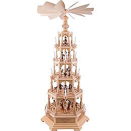 5-Tier Pyramid - The Christmas Story - 142 cm / 56 inch - 230 V Electr. Motor