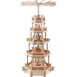 5-stöckige Pyramide Christi Geburt natur - 70 cm