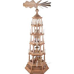 5-stöckige Pyramide Heilige Weihnacht - natur - 140 cm