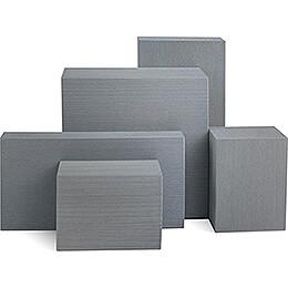 5-teiliges Deko-Set Klötze, grau