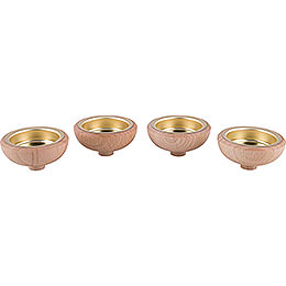 Adaptors for Tea Lights 1.4cm (0.55inch) - Set of Four