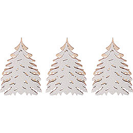 Additional Trees with Snow, Set of Three - 5,5x5 cm / 2.2x2 inch
