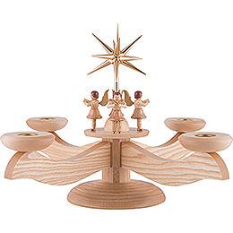 Adventsleuchter 4 stehende Engel natur - 26 cm