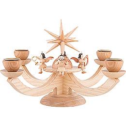 Adventsleuchter mit 4 sitzenden Engeln - 38x38x20 cm