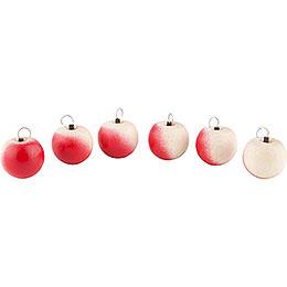 Äpfel 6 Stück mit Haken - 2 cm
