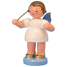 Angel Conductor - Blue Wings - Standing - 9,5 cm / 3,7 inch