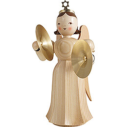 Angel Long Pleaded Skirt with Cymbal - Natural - 20 cm / 7.9 inch
