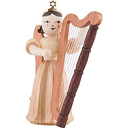 Angel Long Pleated Skirt with Harp, Natural - 6,6 cm / 2.6 inch