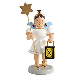 Angel Short Skirt Colored, Lantern and Star - 6,6 cm / 2.6 inch