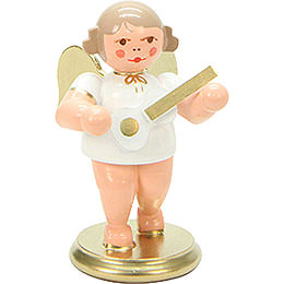 Angel White/Gold with Ukulele - 6 cm / 3 inch