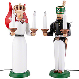 Angel and Miner - Electr. 120 V, Colored - 40 cm / 16 inch