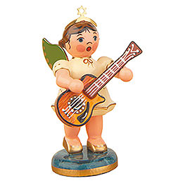 Angel with Acoustic Guitar - 6,5 cm / 2,5 inch