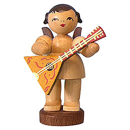 Angel with Balalaika - Natural Colors - Standing - 6 cm / 2,3 inch