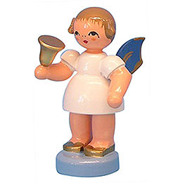 Angel with Bell - Blue Wings - Standing - 6 cm / 2,3 inch