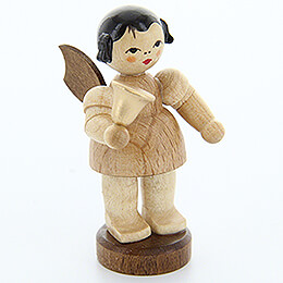 Angel with Bell - Natural Colors - Standing - 6 cm / 2.4 inch