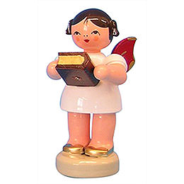 Angel with Bible - Red Wings - Standing - 6 cm / 2,3 inch