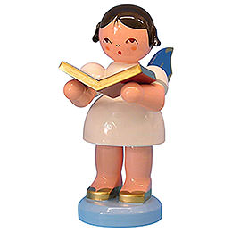 Angel with Book - Blue Wings - Standing - 9,5 cm / 3,7 inch